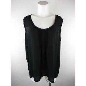 a.n.a A New Approach XL Polyester Pleated Tank Top